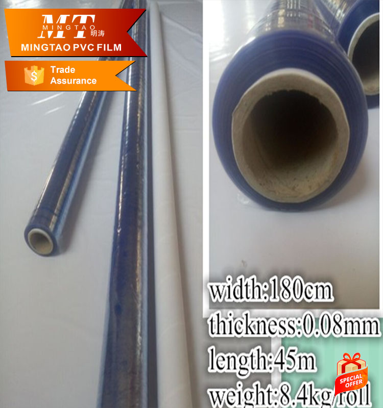 2016 HOT SALE!! Blue pvc shrink film /Transparent PVC Film