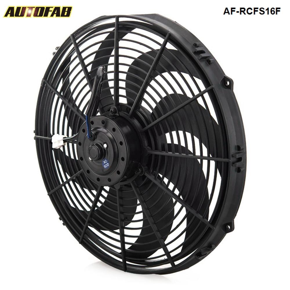 autofab epman racing voiture universel 12 v 16 ventilateur lectrique courbe s lames radiateur. Black Bedroom Furniture Sets. Home Design Ideas