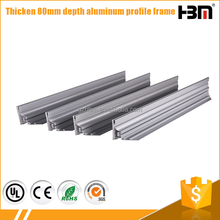 Free sample available 8cm single sided 6063 alloy aluminum fabric frame