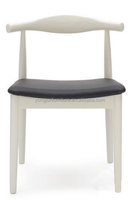 Home furniture The white Cow Horn Chair,Solid wood design wooden kennedy chair,hans wegner elbow chair/YJ-170