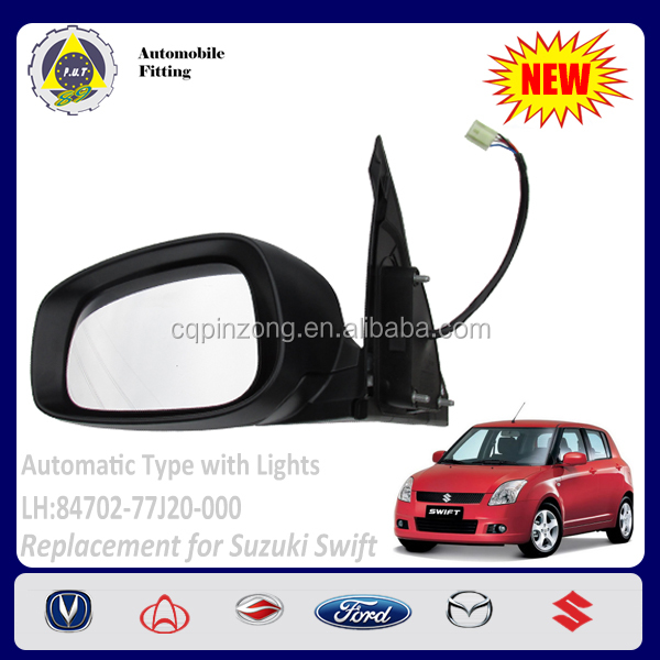 Car Body Parts Autometive with LED lights LH Side Mirror For Suzuki Swift 1.5L OEM 84702-77J20-000