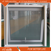 Blinds Inside Aluminium Frame Australian Standard Windows With Key Alike and Double Glazed Glass and AS1288/AS2047 Certificate
