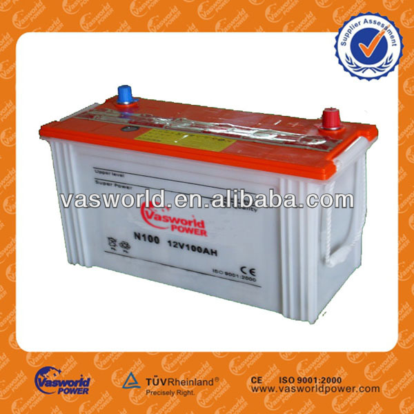 N100 12V 100AH Dry Car Batteries wholesale