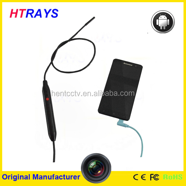Industrial drain inspection camera security camera 5.5mm snake cable waterproof Android endoscope