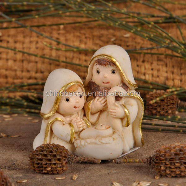 Nativity figurine different kinds of handicrafts