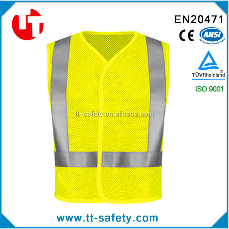hot sell ce en471 standard nighttime enhanced improved visibility reflective safety vest be seen stay safe