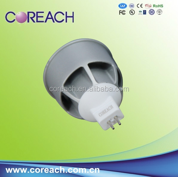 85-265v led gu10 with ce Rohs approved 375lm 5w led spot light coreach