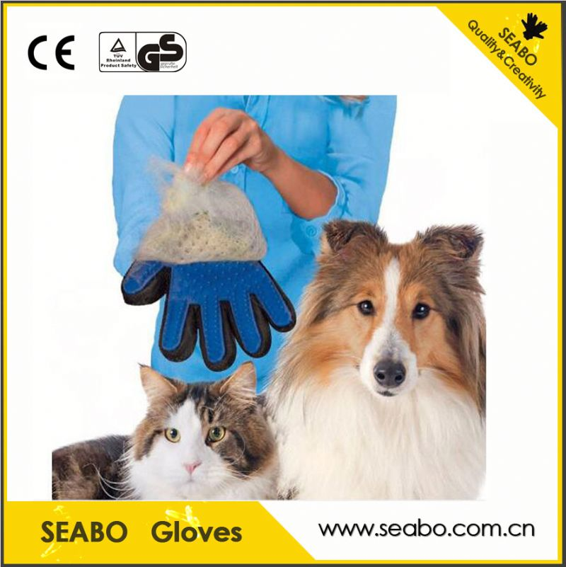 waterproof pet grooming glove hair brush for dog with low price