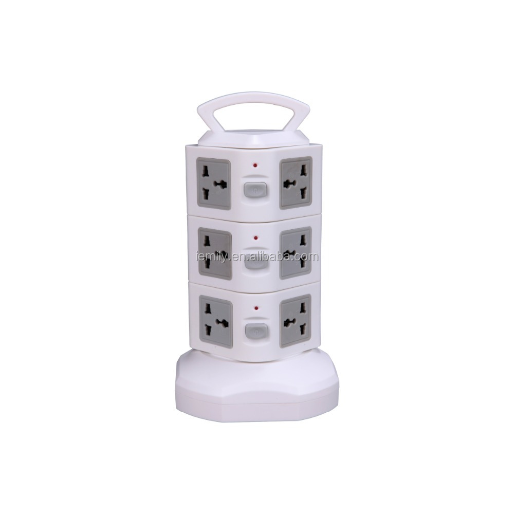 tower retractable USB power strip