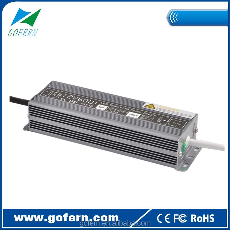 Waterproof Led Strip Lighting Power Supply 60watts