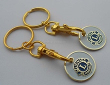 Imprint Lions Gold Shopping Trolley Coin Lock