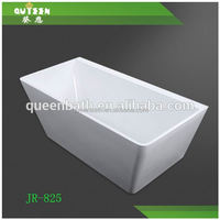 Queen-bath JR-B825 Chinese hot white rectangle acrylic handicapped discount walk in soaking baths, freestanding bathtub