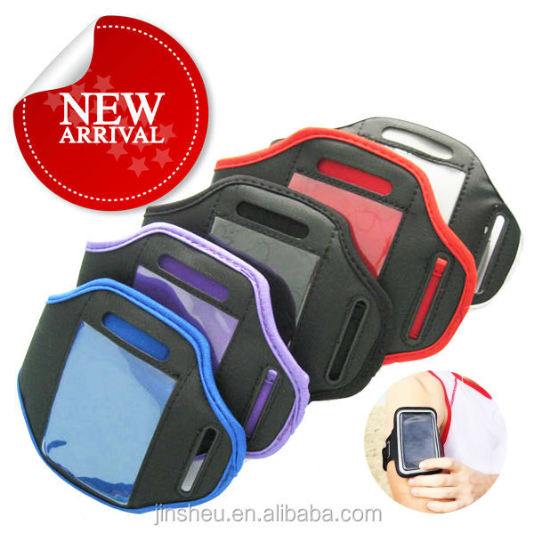 custom phone neoprene armband badge holder