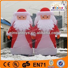 animated lovely inflatable airblown snowman and santa