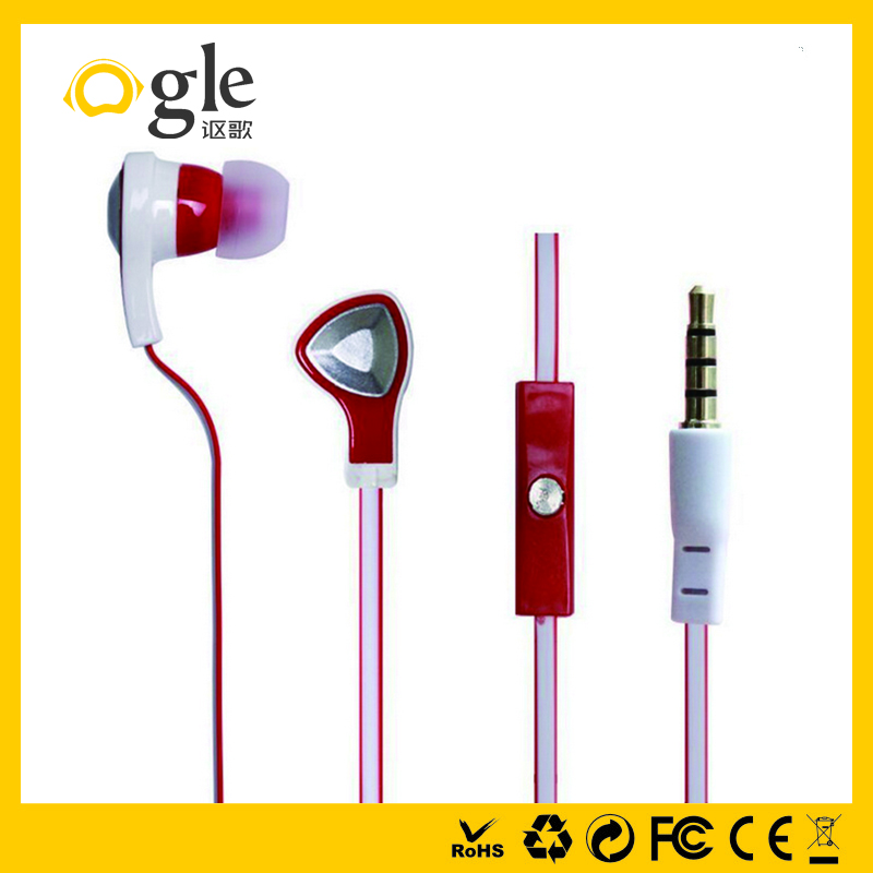 Dual driver super bass cheap triangle shape earphone headphones
