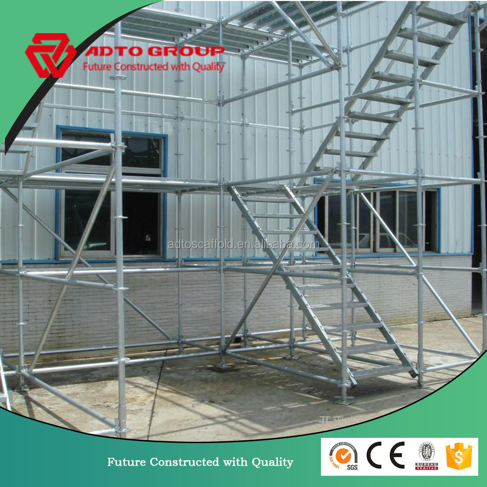 Main tube M48 or M60 high quality ring lock scaffolding system in America SGS text