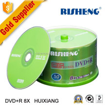 hot sale favorable price RISHENG blank 4.7GB printable car dvd or blank dvdr with OEM printing wholesale