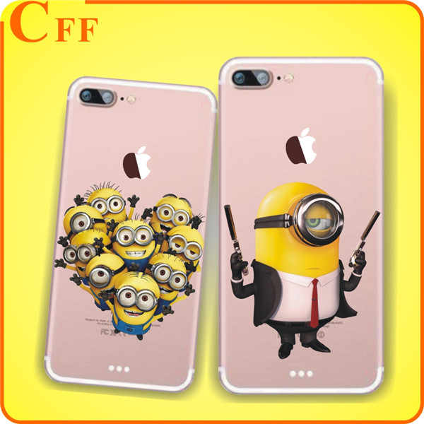 Minions Christmas New Year Phone Case Cover For iPhone 7 7Plus 6 6s 5 5s SE Cases Luxury Transparent Soft Silicone Case Cheap