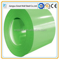 Prepainted GI steel coil / PPGI / PPGL color coated galvanized steel sheet in coil from China manufacture T18 Sinus
