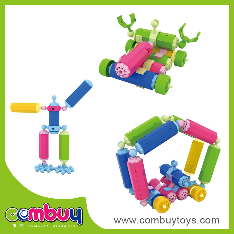 Hot sale educational intelligence toys plastic building funny blocks