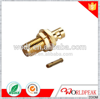 free samples RF SMA female bulkhead welding RG402 cable connector