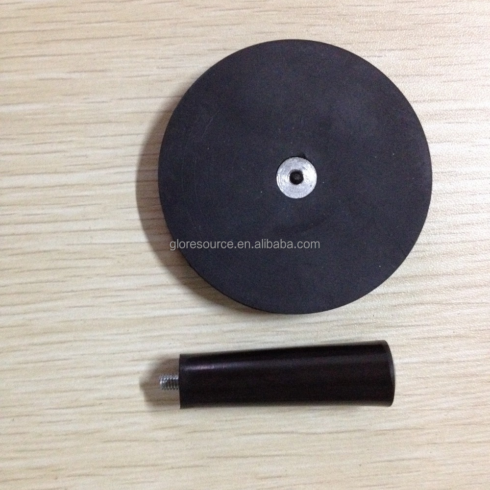 rubber coated neodymium pot magnet/ holding magnet