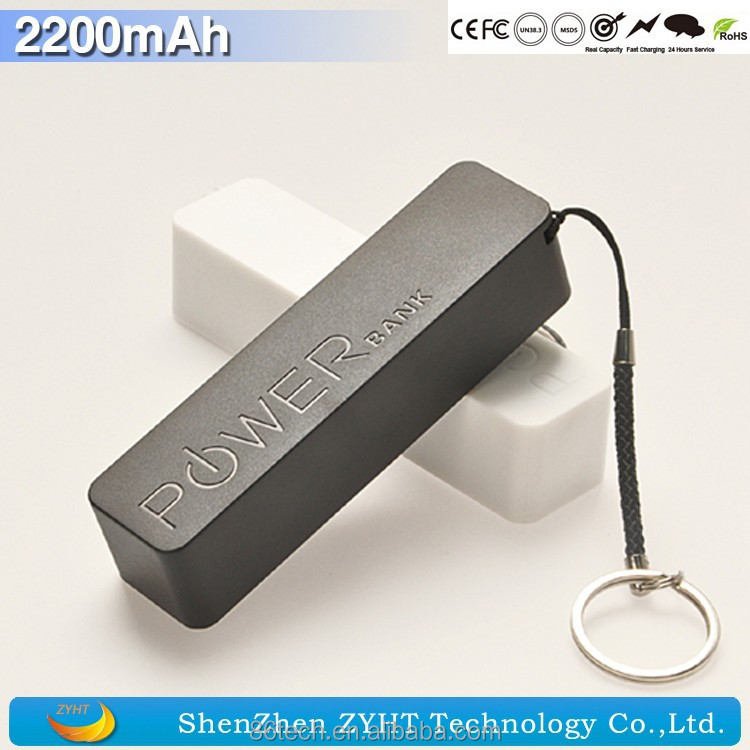 Keychain Mobile Emergency Charger for Samsung Power Bank 20000mAh to 2200mAh Charger Baby CE & Rohs & FCC 6 Colors HQ Cheap