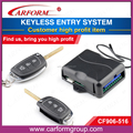 Auto alarm system keyless entry system CF906 with two remote controllers