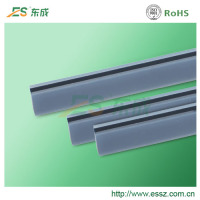 Electronic zebra strip / conductive elastomer