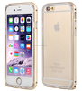 Metal bumper and silicone clear TPU mobile phone case for iPhone 6
