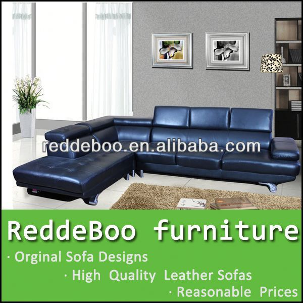 blue microfiber leather sofa