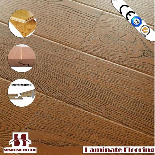 SH middle embossed surface laminate parquet