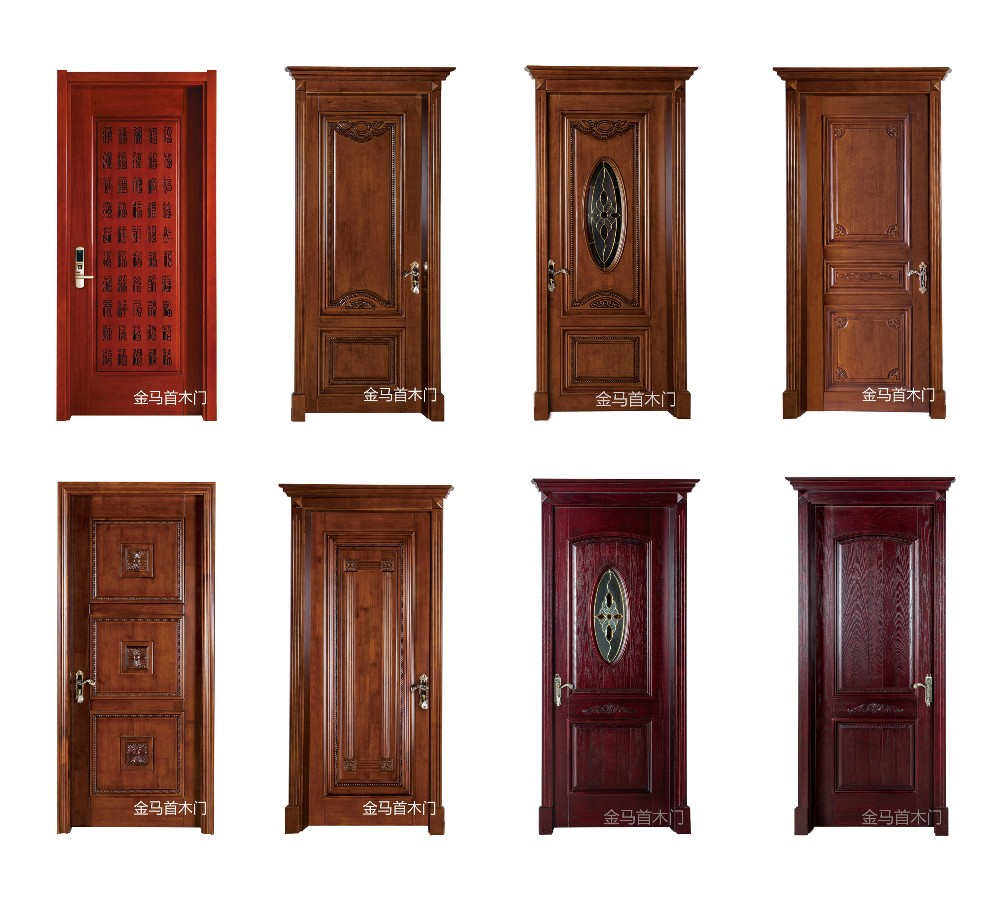 Villas main entrance wooden solid board door design made for Cheap windows and doors for sale
