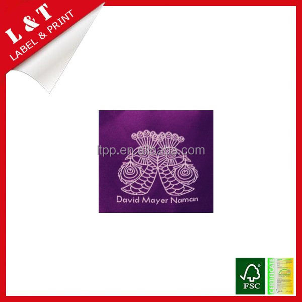 Standard double brocade clothes garment woven label, main labels