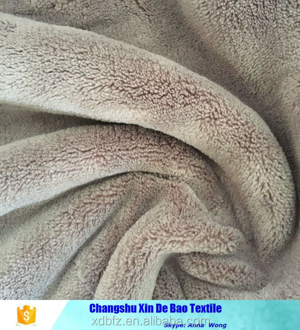 100% polyester coral fleece fabric double side brushed china supplier