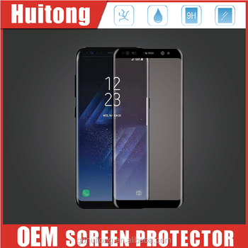 100% Perfect 3D S8 Glass Screen Protector 0.33mm Mobile Phone Clear Glass for Samsung Galaxy S8 Tempered Glass Screen Protector