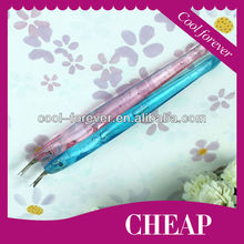 manicure metal cuticle nail pusher with plastic handle
