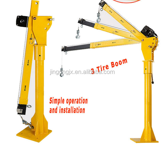 HP1000 mini lifting portable 12V electric small crane