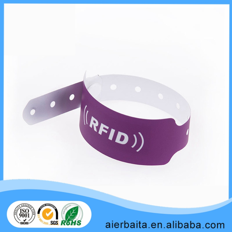 Marathon Uhf Tags / Rfid Wristband for Race Timing System funny festival woven wristband rfid