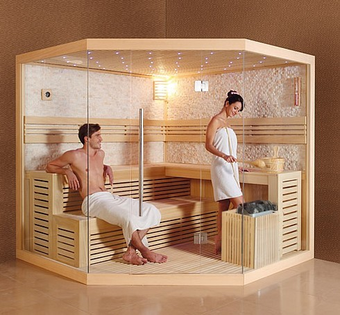 Indoor sauna room dry sauna steam room therapy beauty for Sauna for house