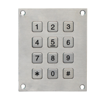 B720 vandal proof stainless steel access control rear mounting keypad