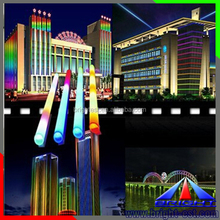 waterproof RGB led digital tube for building lighting,colorful led tube digital light with high brightness