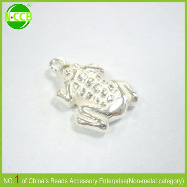Wholesale lucky metal animal shaped big frog hippie beads