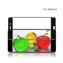 New design best selling 9h hardness 3d round angle tempered glass screen protector for Nokia 6