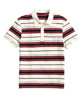 south america red black yarn dyed pique polo shirt