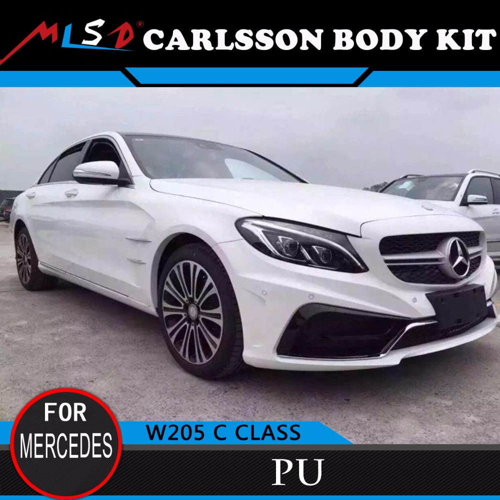 High Quality NEW STYLE Hot Sale Carlsson style PU body kit for Mercedes-Benz W205 C-class sedan