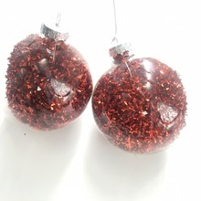 2018 large black silver glass hollow ball Christmas tree decoration
