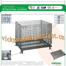 warehouse folding storage cage mesh cage