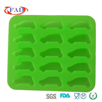 2013 New Model Hot Selling Silicone Car Shape Ice Cube Tray
