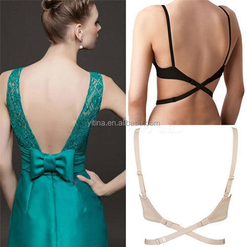 Low Back Backless Bra Strap Adapter Converter Fully Adjustable Extender Hook BE03 underwear accessories Low back bra straps